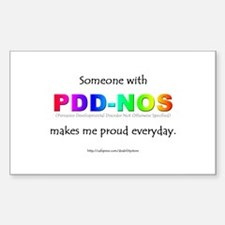 PDD-NOS Pride Rectangle Decal