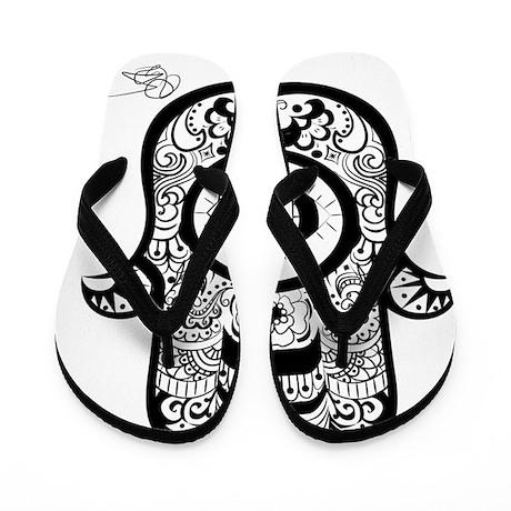 Hamsa Black Flip Flops