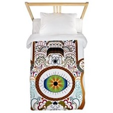 Hamsa/Copper Twin Duvet