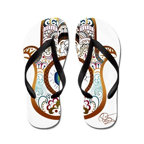 Hamsa/Copper Flip Flops