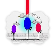 Respiratory 3 birds Ornament