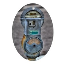 Parking Meter Oval Ornament