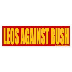 Leos Against Bush Bumper Sticker