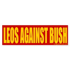 Leos Against Bush Bumper Bumper Sticker