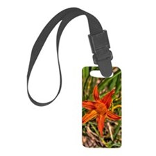 Orange Flower Luggage Tag
