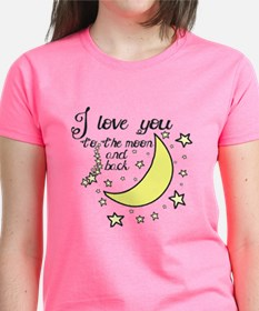 I love you to the moon and ba Tee