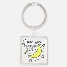 I love you to the moon and back Square Keychain