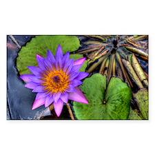 Purple Water Flower Decal