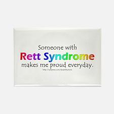 Rett Syndrome Pride Rectangle Magnet