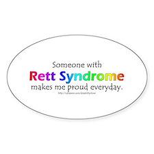 Rett Syndrome Pride Oval Bumper Stickers