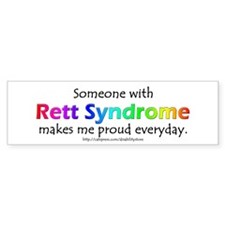Rett Syndrome Pride Bumper Bumper Sticker