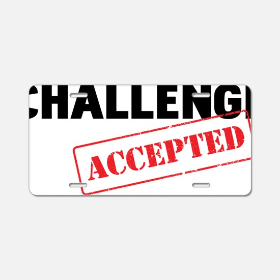 CHALLENGE Aluminum License Plate