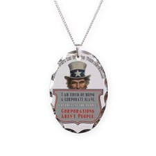 Uncle Sam Corporations Arent P Necklace Oval Charm