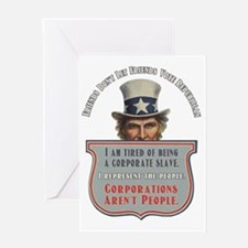 Uncle Sam Corporations Arent People  Greeting Card