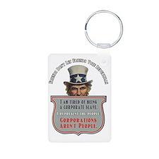 Uncle Sam Corporations Are Aluminum Photo Keychain