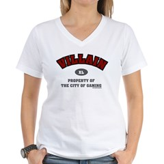 City of Gaming Villain Women's V-Neck T-Shirt
