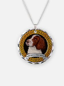 IRISH RED  WHITE SETTER Necklace