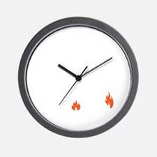 non flammable_bl Wall Clock