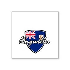 "anguilla1 Square Sticker 3"" x 3"""