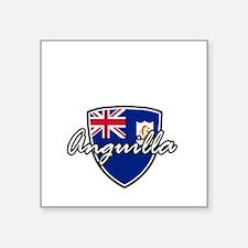 """anguilla1 Square Sticker 3"""" x 3"""""""