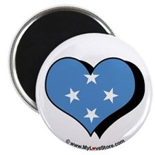 "I Love Micronesia 2.25"" Magnet (100 pack)"