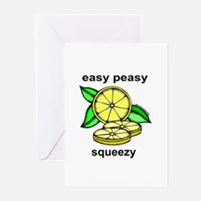 Easy Peasy Lemon Squeezy Greeting Cards (Package o