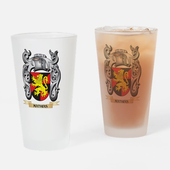 Mathias Coat of Arms - Family Crest Drinking Glass