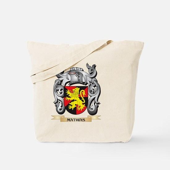 Mathias Coat of Arms - Family Crest Tote Bag