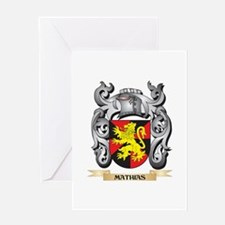 Mathias Coat of Arms - Family Crest Greeting Cards