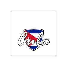 """cuba3 Square Sticker 3"""" x 3"""""""