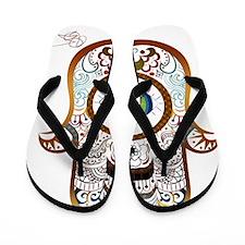 Hamsa Copper Flip Flops