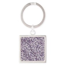 Purple Swirls Flip Flops Square Keychain