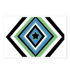 diamond star Postcards (Package of 8)