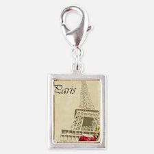 Paris Silver Portrait Charm