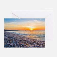 Long Island Sunset Cedar Beach, Moun Greeting Card