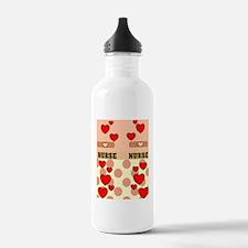 ff NURSE HEARTS ORANGE Water Bottle