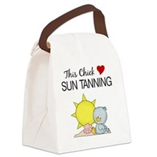 THIS CHICK LOVES SUN TANNING Canvas Lunch Bag
