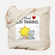 THIS CHICK LOVES SUN TANNING Tote Bag