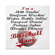 Baseball_Mom Queen Duvet