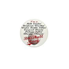 Baseball_Mom Mini Button
