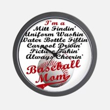 Baseball_Mom Wall Clock
