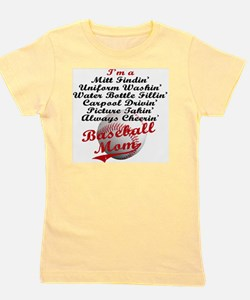Baseball_Mom Girl's Tee