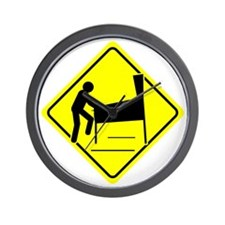 Funny - Caution Pinball Wizard Player A Wall Clock