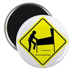 Funny - Caution Pinball Wizard Player Arcad Magnet