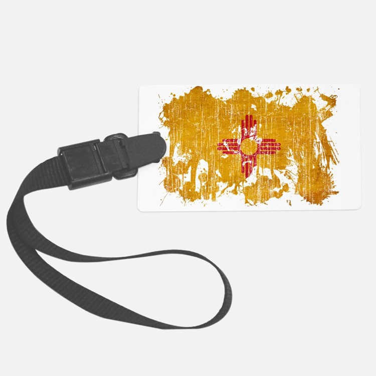 New Mexico textured splatter age Luggage Tag