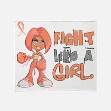 D FLAG Uterine Cancer 42.8 Throw Blanket