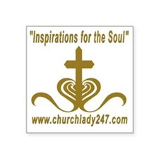 "Inspirations for the Soul 3 Square Sticker 3"" x 3"""