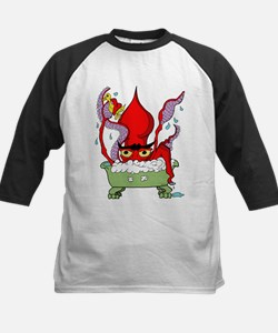 Red Giant Squid Kids Baseball Jersey