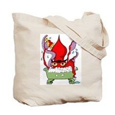 Red Giant Squid Tote Bag