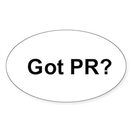 Got PR Oval Sticker